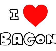 I Heart Bacon by PingusTees