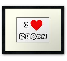 I Heart Bacon Framed Print
