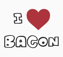 I Heart Bacon Kids Tee