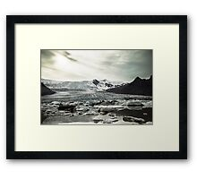 Icelandic sea glacier Framed Print