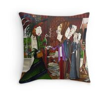 Yeats meets Maud Gonne for the first time Throw Pillow
