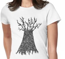 d2d - Empty Tree Womens Fitted T-Shirt