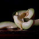 Green Melon & Yellow Butterfly by Rachel Slepekis