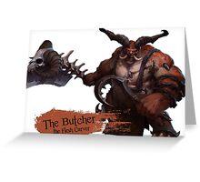 The Flesh Carver Greeting Card