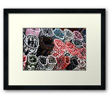 Wool Bags at the Otavalo Craft Market Framed Print
