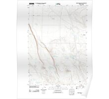 USGS Topo Map Oregon Tired Horse Butte 20110912 TM Poster
