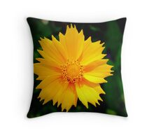 Golden Bloom Throw Pillow