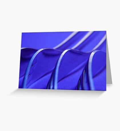 Kitchen Rhapsody: Fork Waves Greeting Card