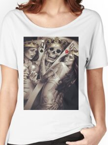 King and queens spades and hearts playing cards cartoon design Women's Relaxed Fit T-Shirt