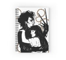 Edward Scissorhands and Kim Spiral Notebook