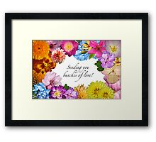 Sending you bunches of love! Framed Print