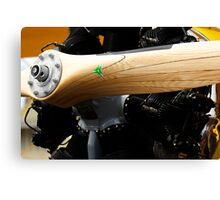 Wooden Propellor and Radial Motor Canvas Print