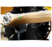 Wooden Propellor and Radial Motor Poster