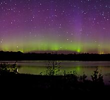 Northern Lights in the Bruce Peninsula of Ontario by aMillionWordsCa