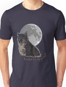 The (big) cat and the moon Unisex T-Shirt
