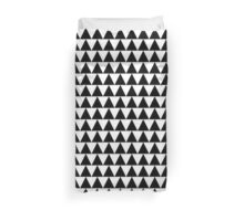 Black and White Triangle Duvet Cover