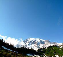 Summit & Sky - Mt. Rainier, WA by Britland Tracy
