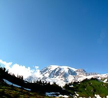 Summit & Sky - Mt. Rainier, WA by Britland Tracy