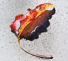 Leaf On Fire by Irina Sztukowski