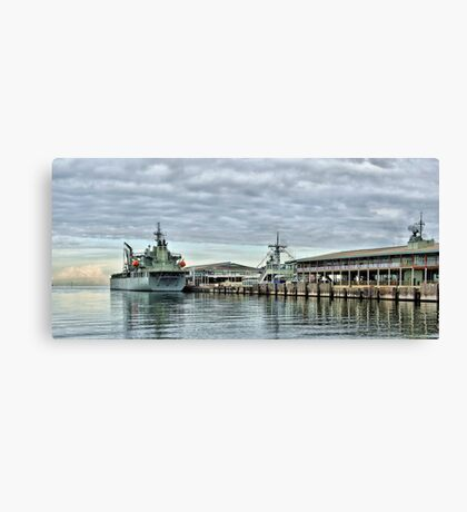 HMAS Sirius at Station Pier Canvas Print