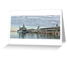HMAS Sirius at Station Pier Greeting Card
