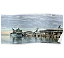 HMAS Sirius at Station Pier Poster