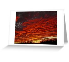 Patio Sunset Greeting Card