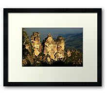 love legend-Three Sisters at Blue Mountain, Sydney, Australia Framed Print