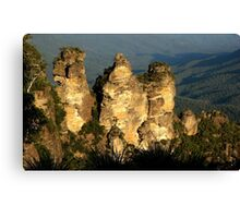 love legend-Three Sisters at Blue Mountain, Sydney, Australia Canvas Print
