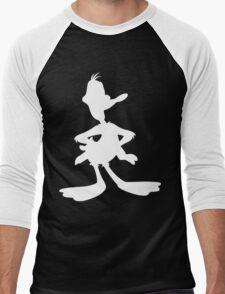 Daffy Duck Silhouette  Men's Baseball ¾ T-Shirt