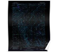 USGS Topo Map Nevada Disaster Peak 320857 1961 62500 Inverted Poster