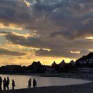 Sunset at Lyme Regis by Rollergirl