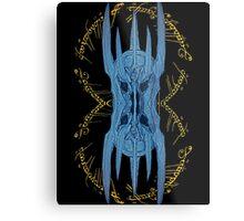 Sauron Mirror Blue Metal Print