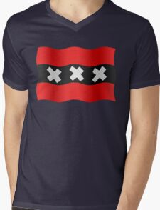 Amsterdam vlag Mens V-Neck T-Shirt