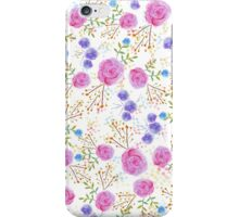Pretty watercolor floral design iPhone Case/Skin