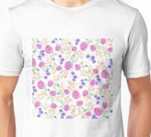 Pretty watercolor floral design Unisex T-Shirt