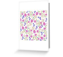 Pretty watercolor floral design Greeting Card