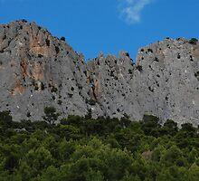 Rocher St Julien, near Buis, France by Geoffrey Grinton