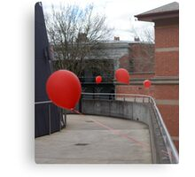 Red balloons showing the way Metal Print
