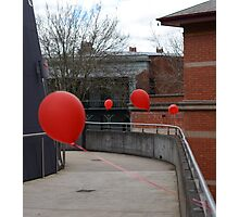Red balloons showing the way Photographic Print