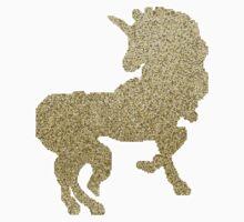 8-Bit Golden Glitter Unicorn by nickasaur