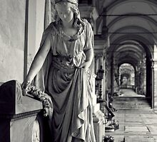 Statue in mourning. by Alex Maciag