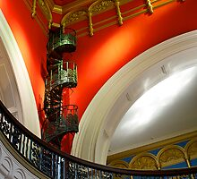 Staircase, Queen Victoria Building, Sydney. by johnrf