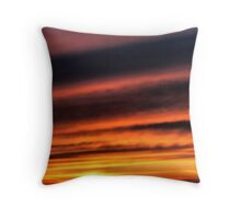 January Sunset Throw Pillow