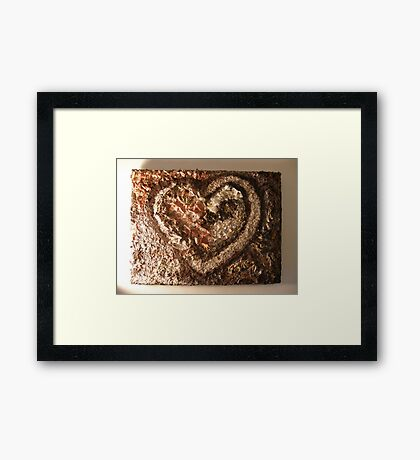LOVE NATURE COLLECTION - HEART OF NATURE 2 RAPTURE Framed Print