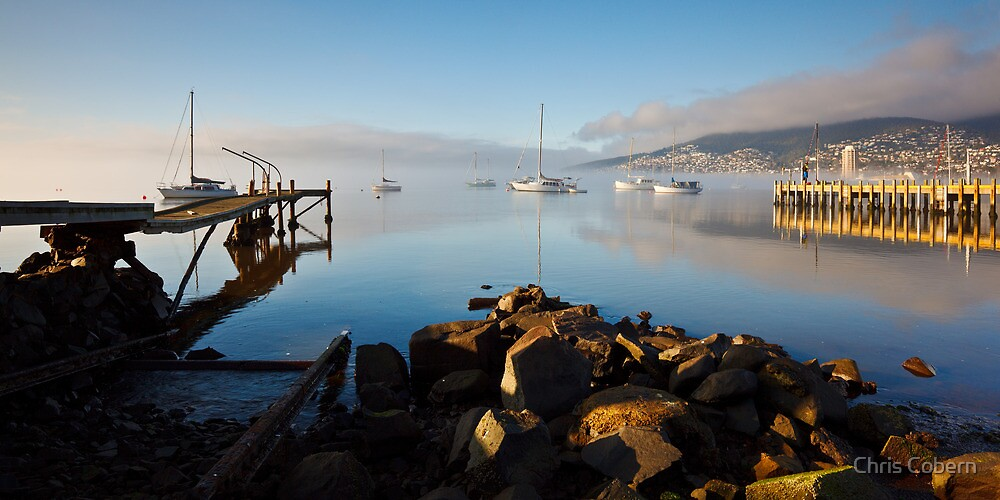 Boats off Battery Point, Hobart, Tasmania #3 by Chris Cobern