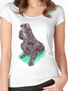 Cocker Spaniel Women's Fitted Scoop T-Shirt