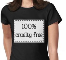 100% Cruelty Free Womens Fitted T-Shirt
