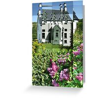 Buddleia outside Scottish House Greeting Card