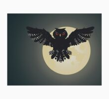 Owl and Full Moon 2 Kids Tee